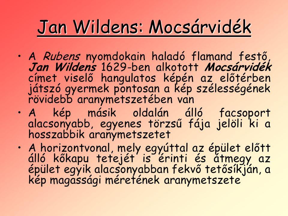 Jan Wildens: Mocsárvidék •A Rubens nyomdokain haladó flamand festő, Jan Wildens 1629-ben alkotott Mocsárvidék címet viselő hangulatos képén az előtérb