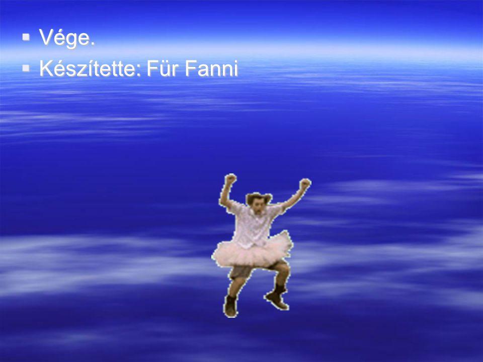 Vége.  Készítette: Für Fanni