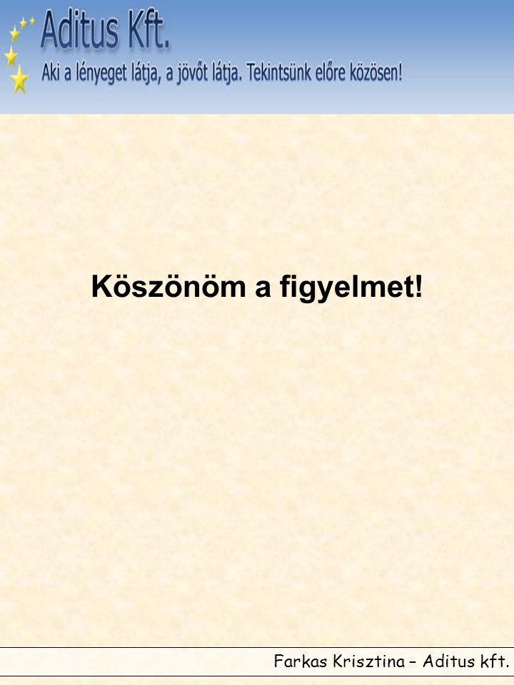 Farkas Krisztina – Aditus kft. Köszönöm a figyelmet!