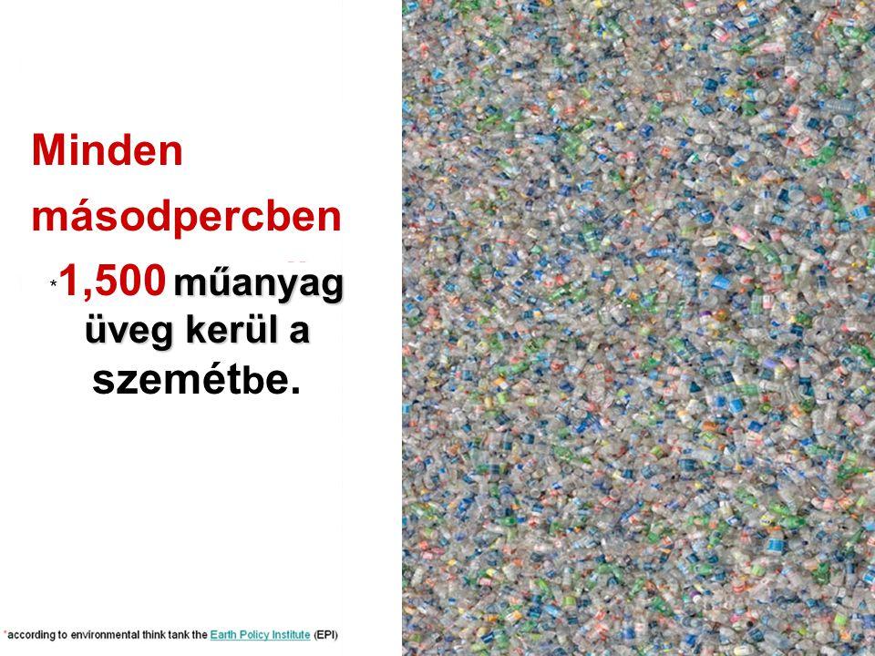 Minden másodpercben műanyag üveg kerül a * 1,500 műanyag üveg kerül a szemét b e.