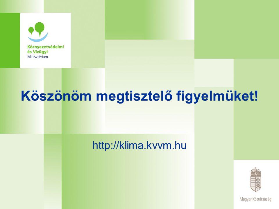 Köszönöm megtisztelő figyelmüket! http://klima.kvvm.hu