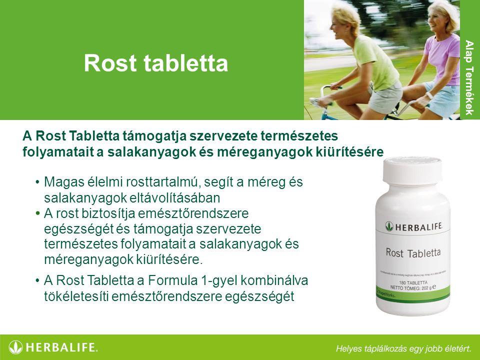 Rost tabletta •Magas élelmi rosttartalmú, segít a méreg és salakanyagok eltávolításában • A rost biztosítja emésztőrendszere egészségét és támogatja s