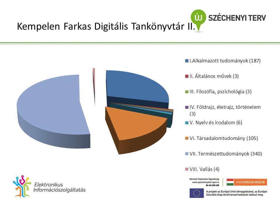 Kempelen Farkas Digitális Tankönyvtár II.