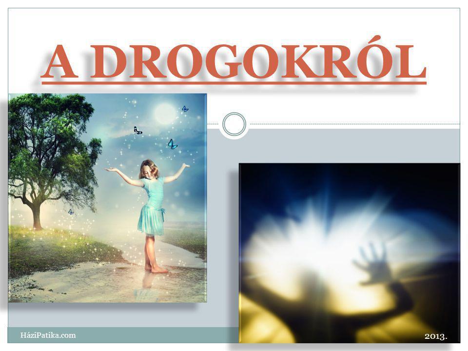 A DROGOKRÓL 2013. HáziPatika.com