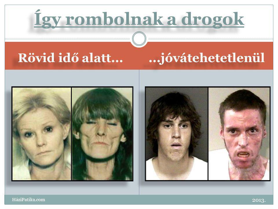 Rövid idő alatt......jóvátehetetlenül Így rombolnak a drogok 2013. HáziPatika.com