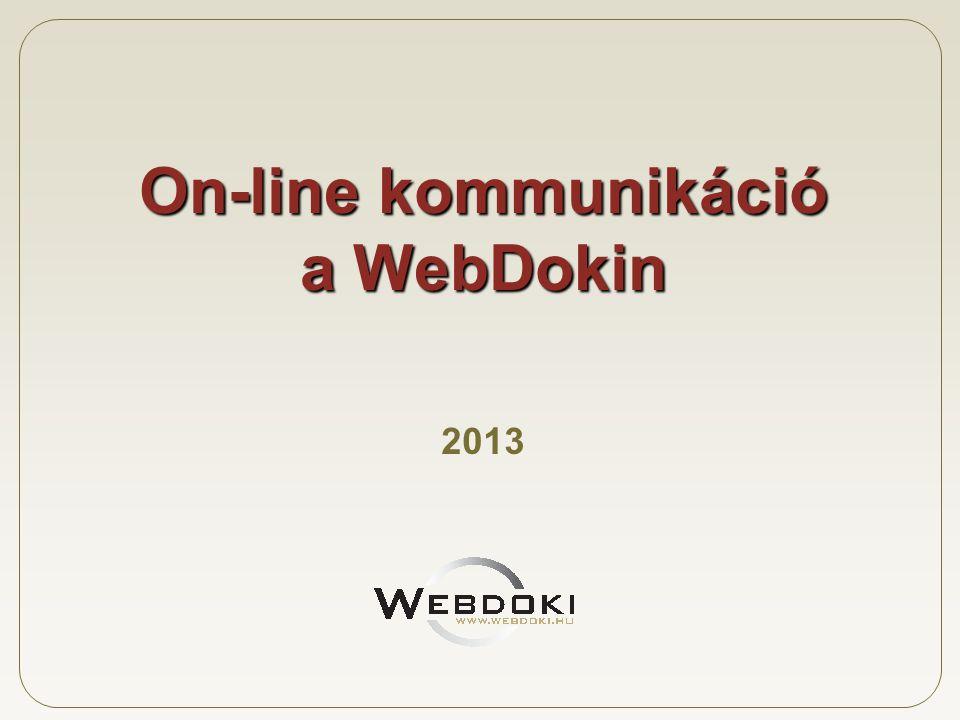 On-line kommunikáció a WebDokin 2013