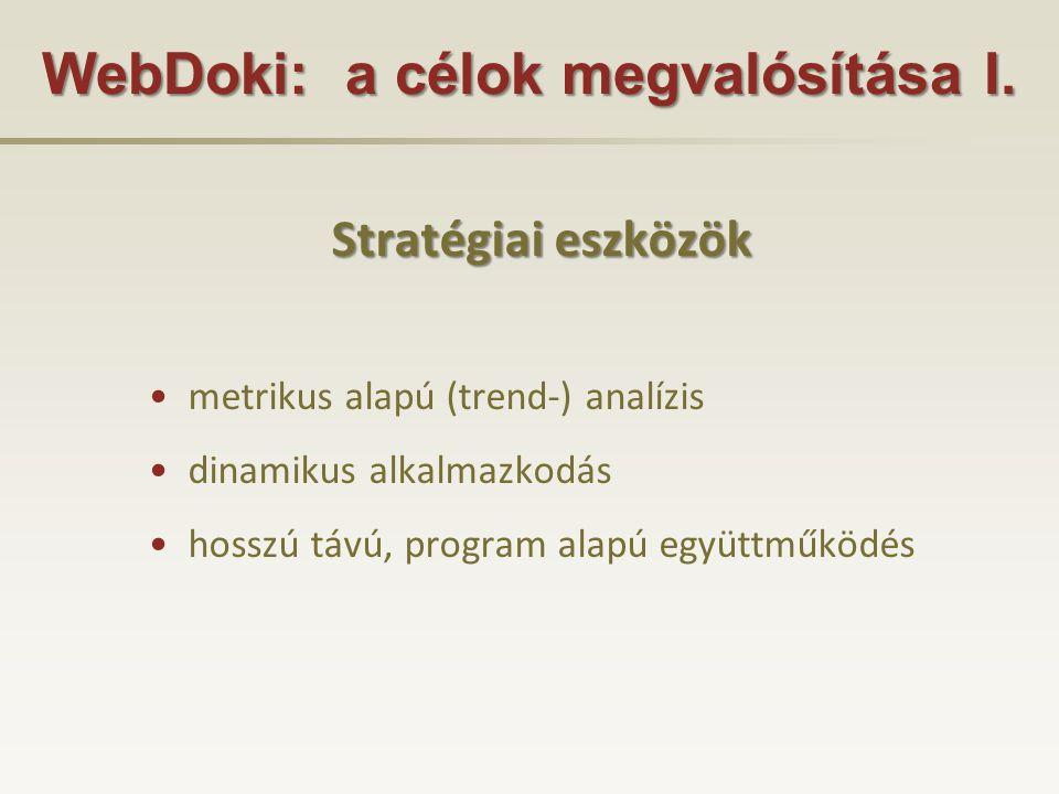 WebDoki: a célok megvalósítása I.