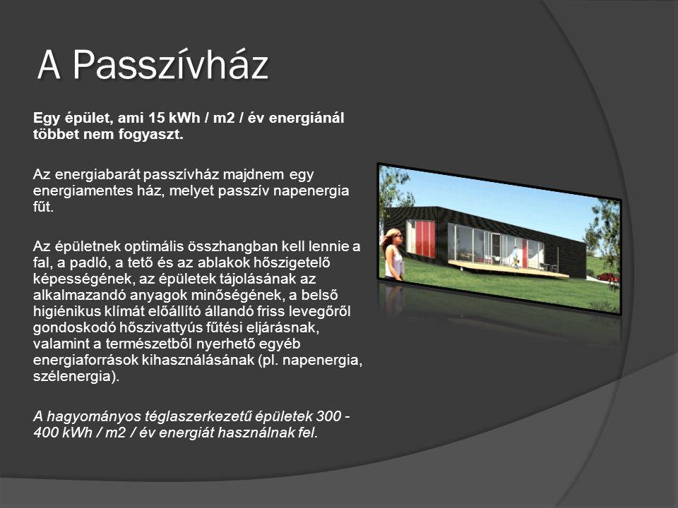 A Passzívház Egy épület, ami 15 kWh / m2 / év energiánál többet nem fogyaszt. Az energiabarát passzívház majdnem egy energiamentes ház, melyet passzív