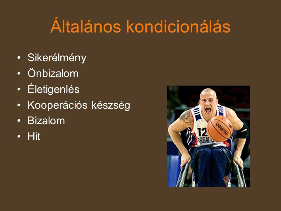 A fogyatékossággal élők sport általi esélyegyenlősége A sport az a terület, amelyben minden résztvevő azonos módon juthat a társadalmi értékek létrehozásában egyenlő mértékű önmegvalósításhoz, sikerhez, nyilvánossághoz.