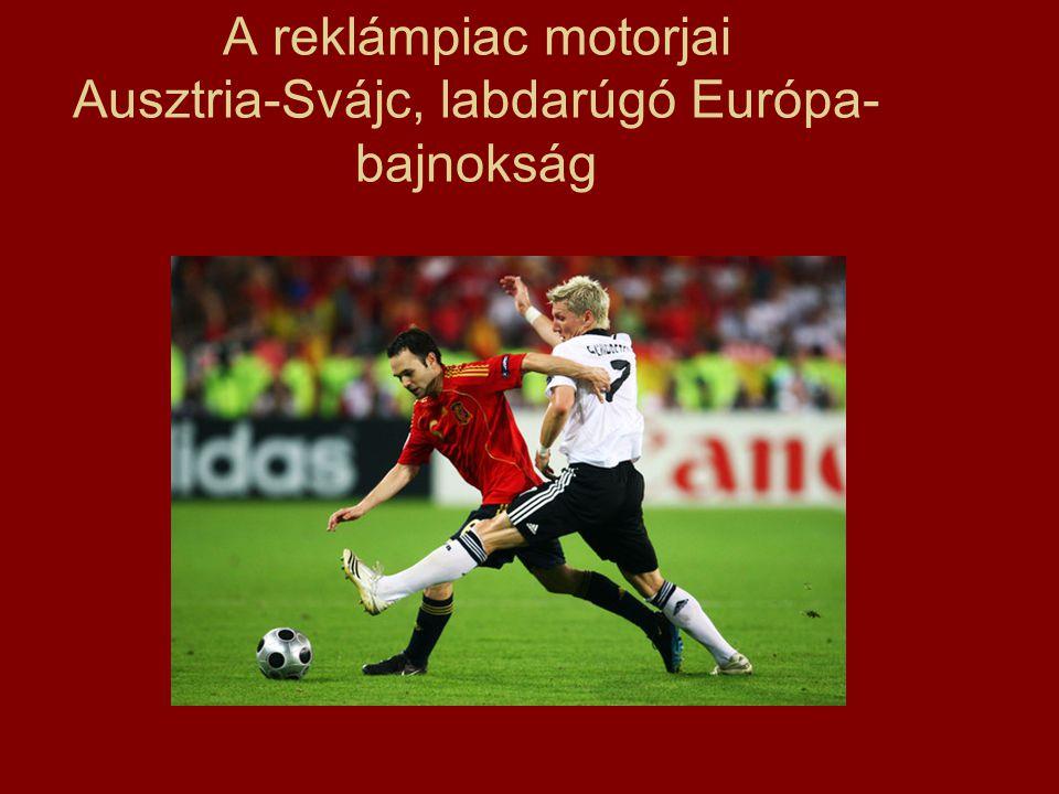 A reklámpiac motorjai Ausztria-Svájc, labdarúgó Európa- bajnokság