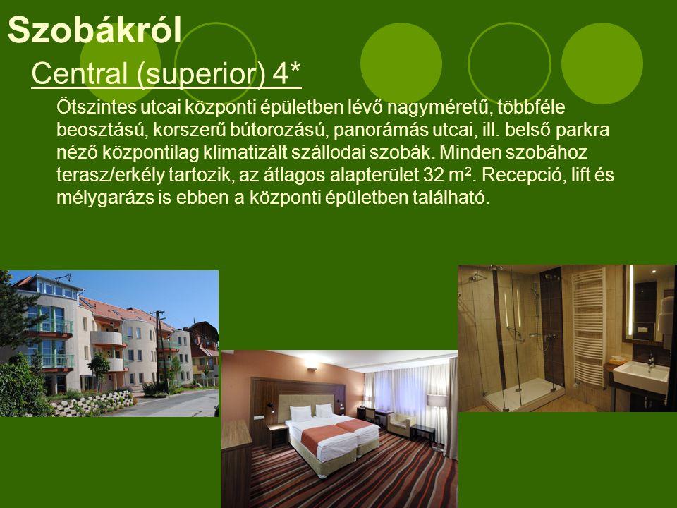  Családi szobák: összenyitható (3x2 superior szoba), vagy 3 db átlagosnál jelentősen nagyobb (43 m2) több személyre is pótágyazható superior szobaegység tartozik ebbe a kategóriába.