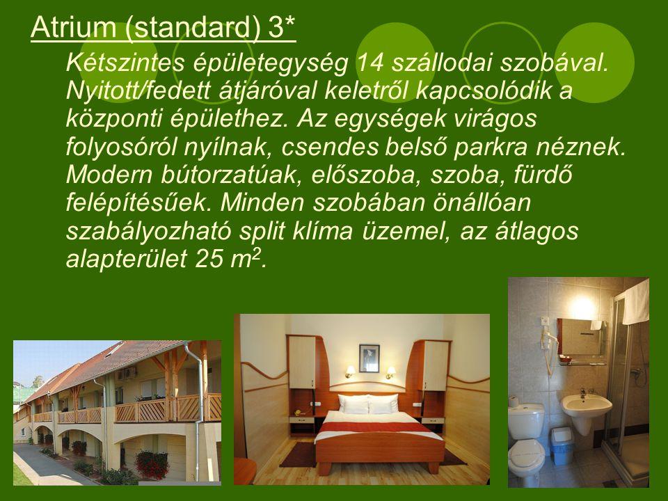 Egyszintes különálló épületegység 10 szállodai szobával.