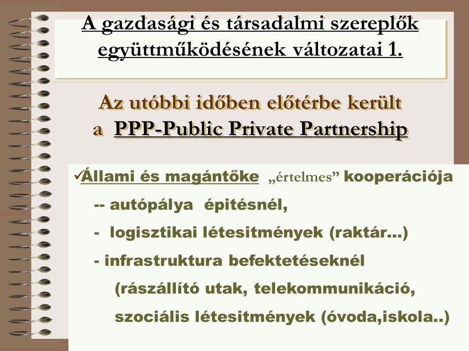©knoll9©knoll A gazdasági és társadalmi szereplők együttműködésének változatai 1.