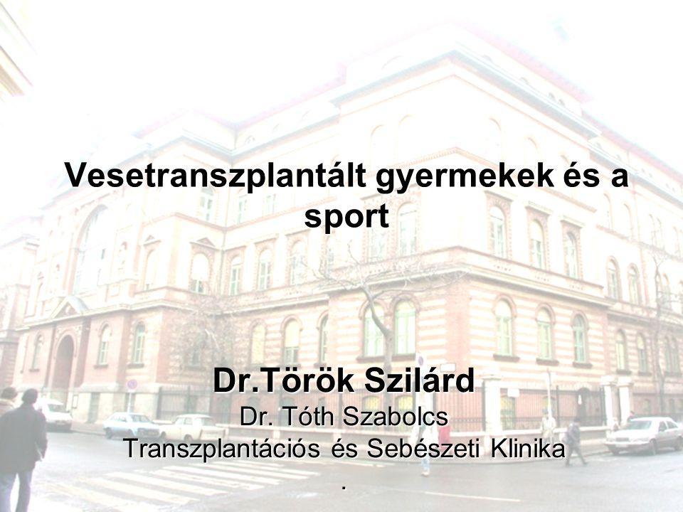 Vesetranszplantált gyermekek és a sport Dr.Török Szilárd Dr. Tóth Szabolcs Transzplantációs és Sebészeti Klinika.