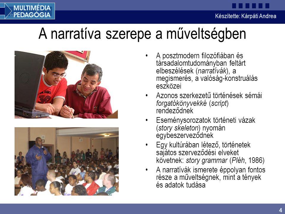 Készítette: Kárpáti Andrea 15 A műveltségvizsgálat néhány eredménye I.