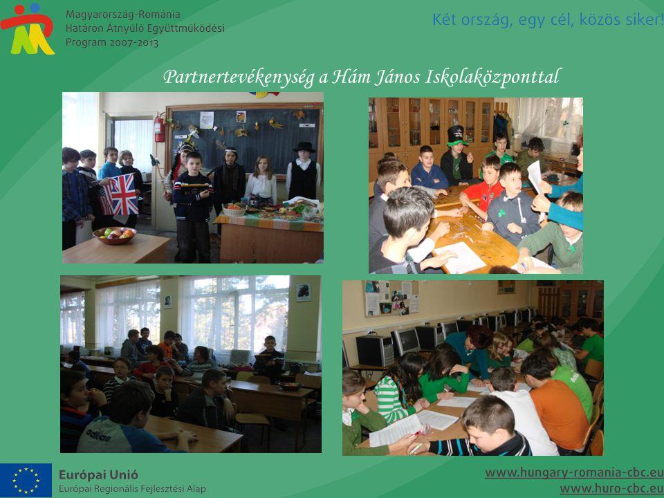 Partnertevékenység a Hám János Iskolaközponttal