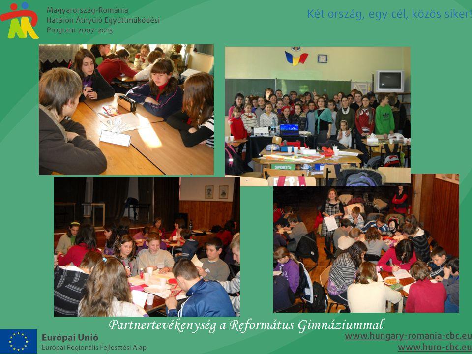 Partnertevékenység a Református Gimnáziummal