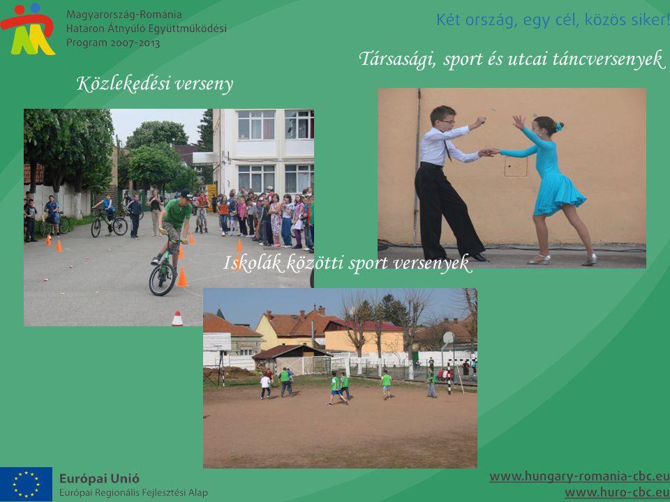 Közlekedési verseny Társasági, sport és utcai táncversenyek Iskolák közötti sport versenyek