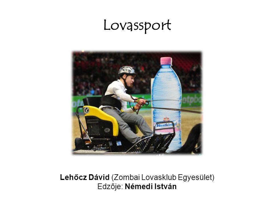 Lovassport Lehőcz Dávid (Zombai Lovasklub Egyesület) Edzője: Némedi István