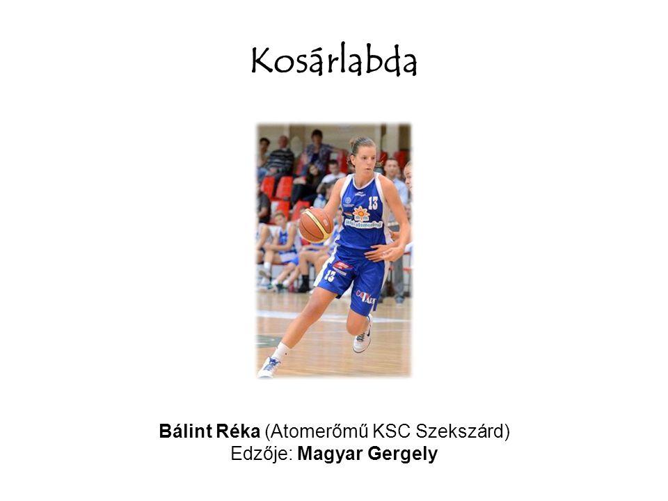 Kosárlabda Bálint Réka (Atomerőmű KSC Szekszárd) Edzője: Magyar Gergely
