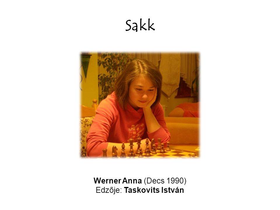 Sakk Werner Anna (Decs 1990) Edzője: Taskovits István
