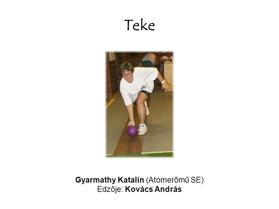 Teke Gyarmathy Katalin (Atomerőmű SE) Edzője: Kovács András