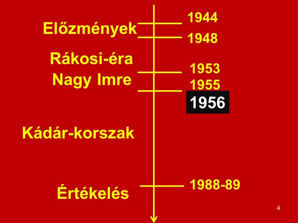 Előzmények 5 1944 1948 1953 1955 1956 1988-89