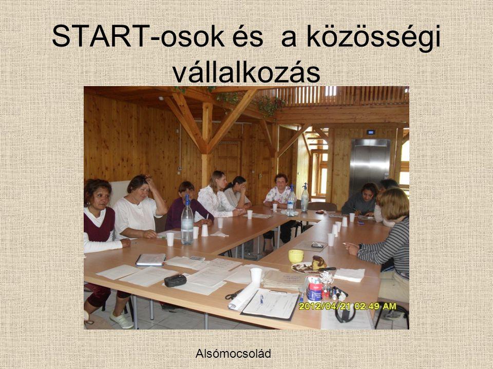 START-osok és a közösségi vállalkozás Alsómocsolád