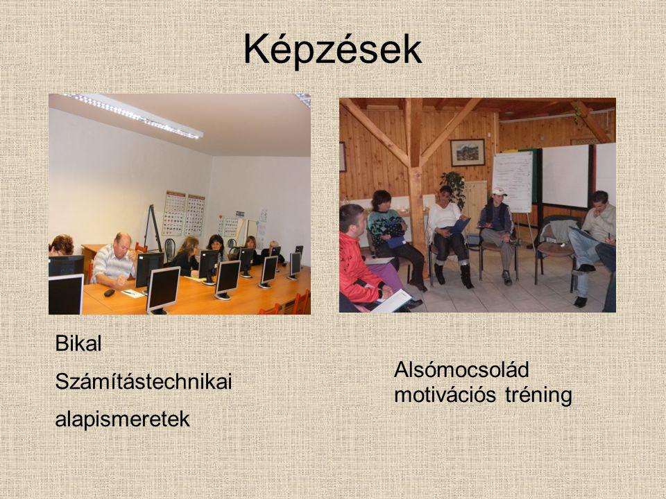 Képzések Bikal Számítástechnikai alapismeretek Alsómocsolád motivációs tréning