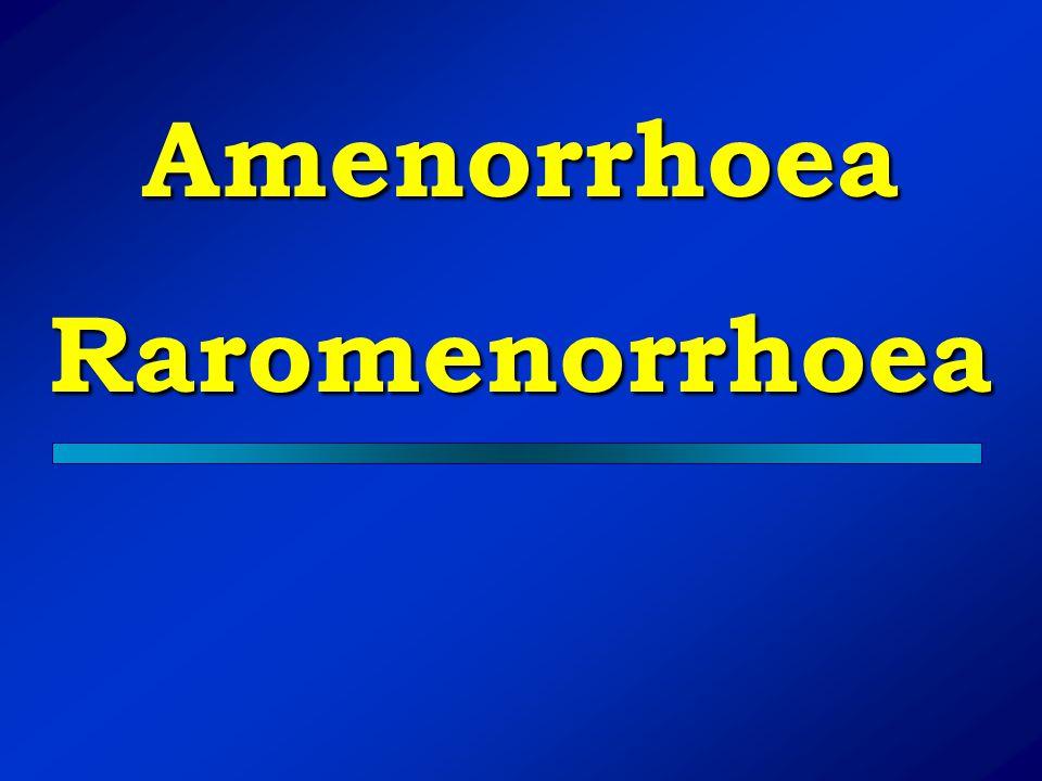 AmenorrhoeaRaromenorrhoea