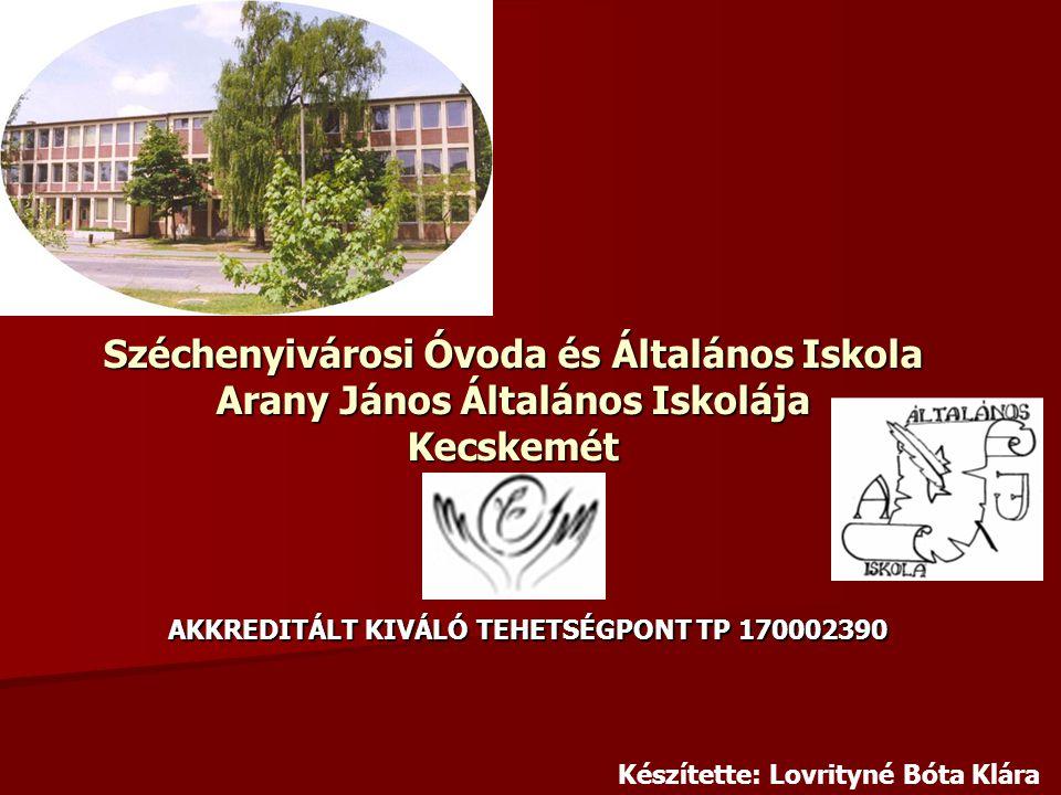 Széchenyivárosi Óvoda és Általános Iskola Arany János Általános Iskolája Kecskemét AKKREDITÁLT KIVÁLÓ TEHETSÉGPONT TP 170002390 Készítette: Lovrityné Bóta Klára