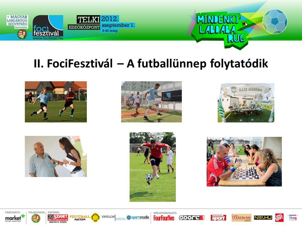 II. FociFesztivál – A futballünnep folytatódik