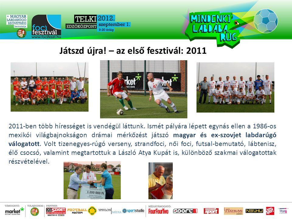 Játszd újra. – az első fesztivál: 2011 2011-ben több hírességet is vendégül láttunk.