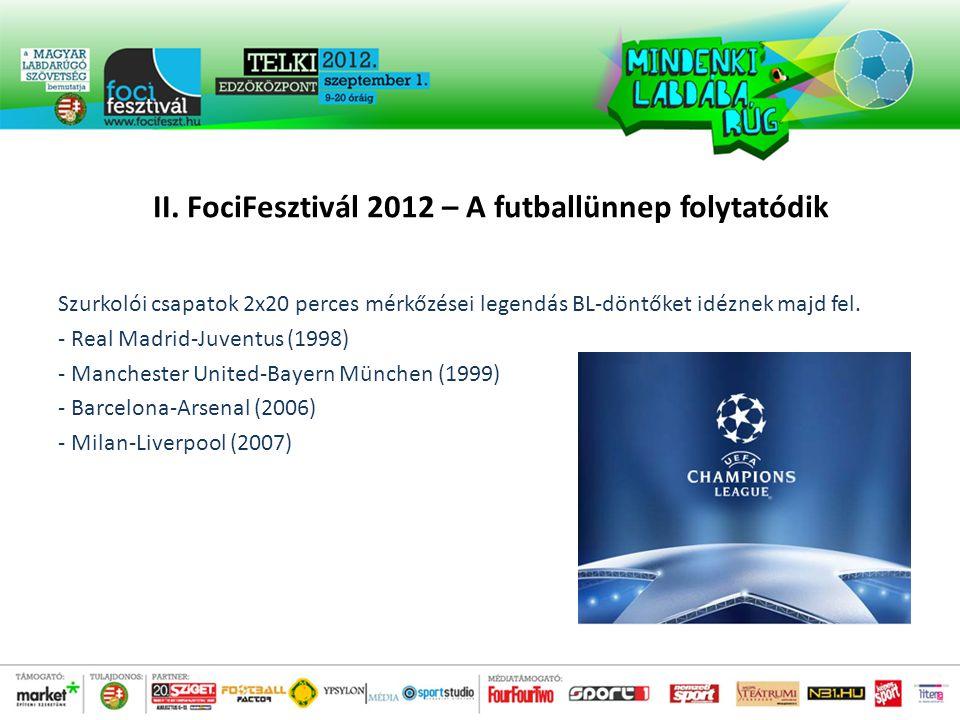 Szurkolói csapatok 2x20 perces mérkőzései legendás BL-döntőket idéznek majd fel.
