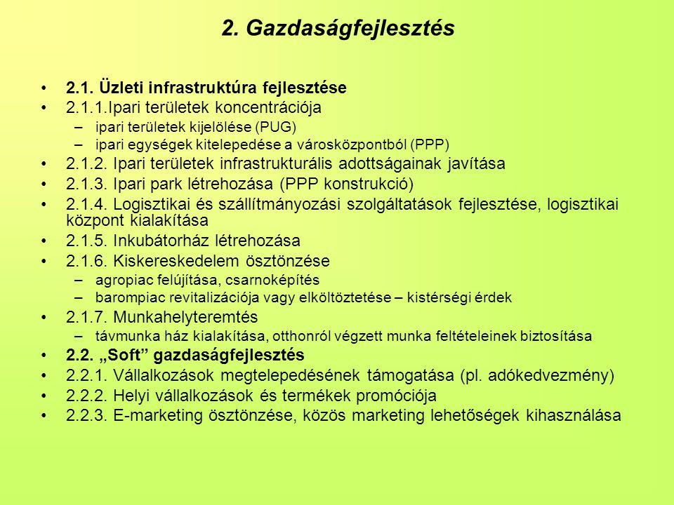 2.Gazdaságfejlesztés •2.1.