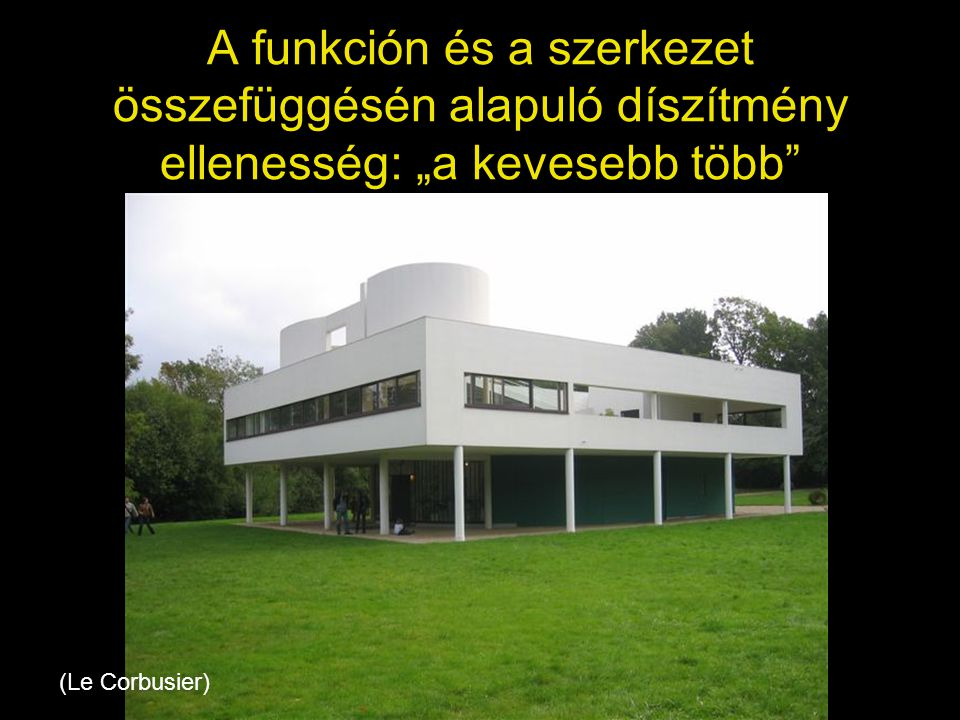 """Frank Lloyd Wright •Wright funkcionalizmusát a japán tradicionális építészet hatására is, az épület """"ellégiesítésével és a természeti-emberi környezet harmóniájának megteremtésével próbálja alkalmazni (Vízesés-ház, organikus építészet) •Háború utáni híres műve a Guggenheim Múzeum New Yorkban"""