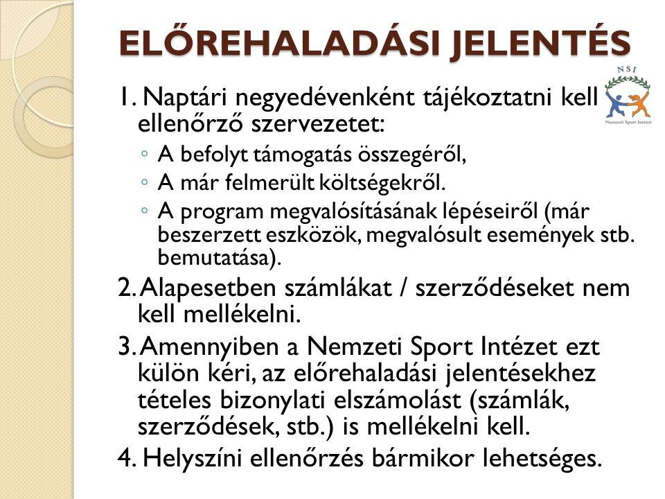 ELŐREHALADÁSI JELENTÉS 1.
