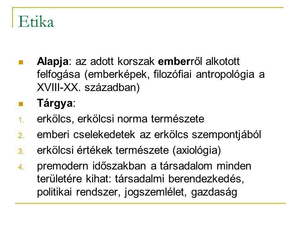Etika (2) Az etika és a társadalomtudományok kapcsolata Alkalmazott etika