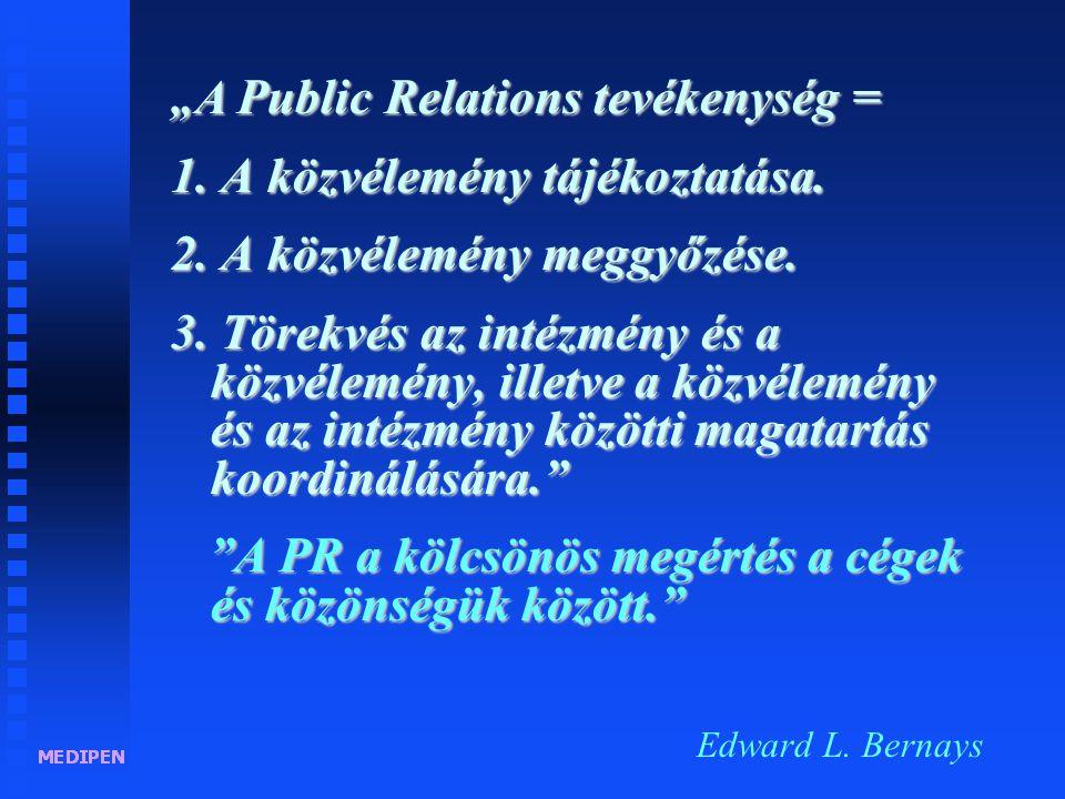"""""""A Public Relations = egy szervezet kommunikációjának szervezése. Anne van der Meiden"""