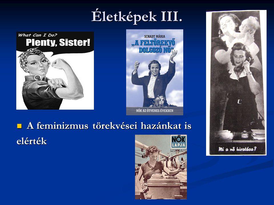Életképek III.  A feminizmus törekvései hazánkat is elérték