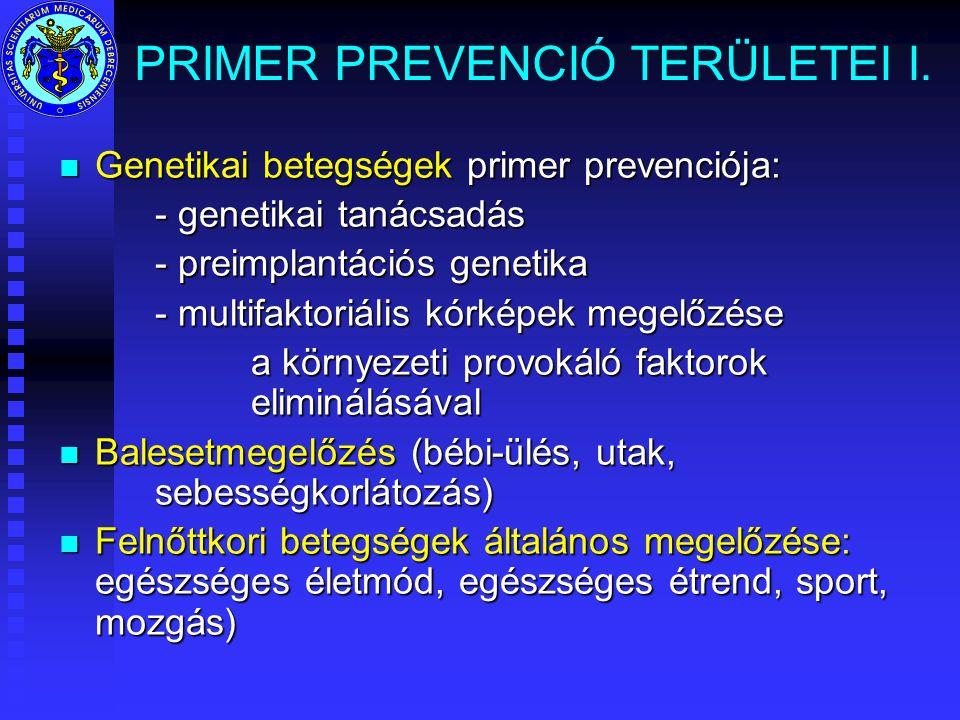 PRIMER PREVENCIÓ TERÜLETEI I.