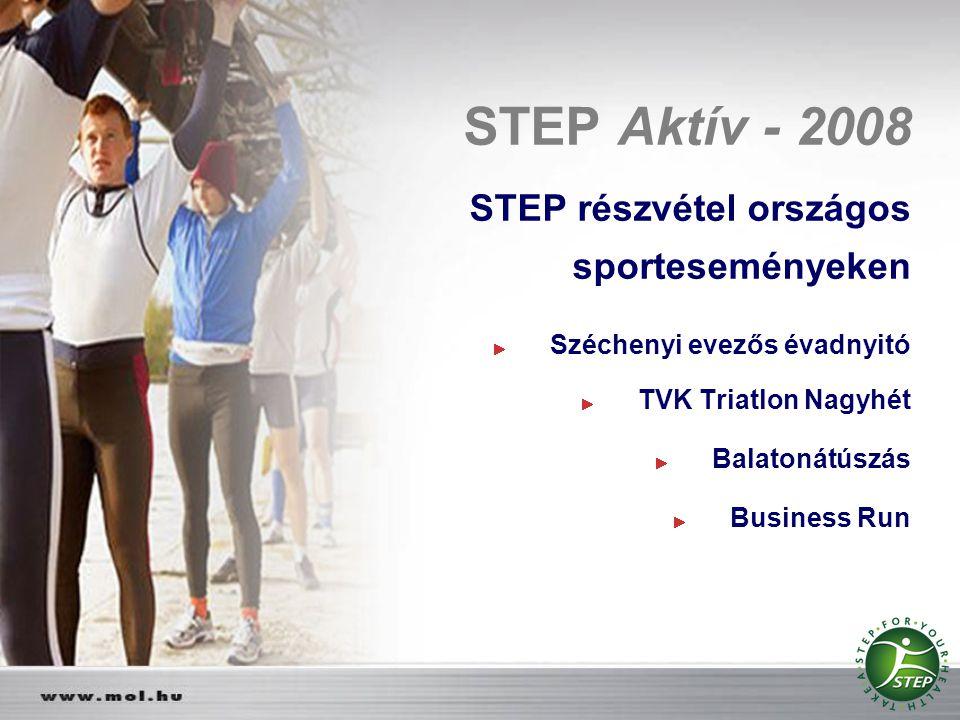 STEP Aktív - 2008 STEP részvétel országos sporteseményeken Széchenyi evezős évadnyitó TVK Triatlon Nagyhét Balatonátúszás Business Run