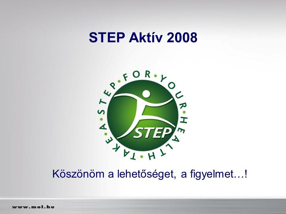 STEP Aktív 2008 Köszönöm a lehetőséget, a figyelmet…!