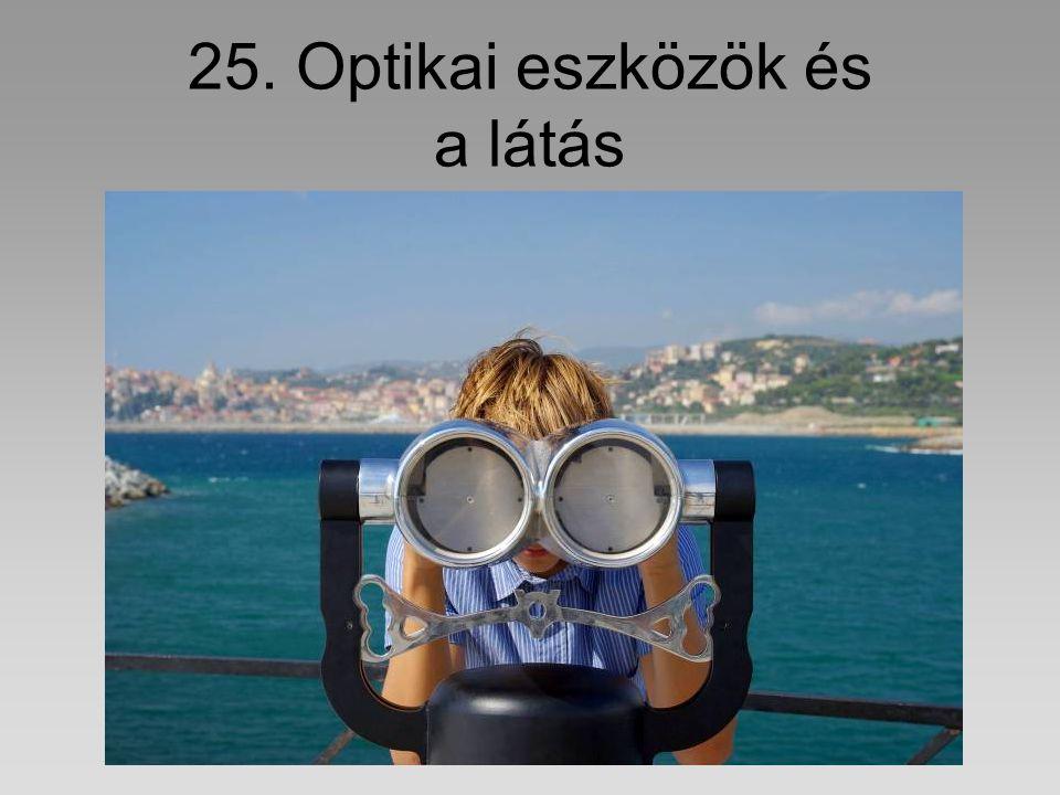 25. Optikai eszközök és a látás