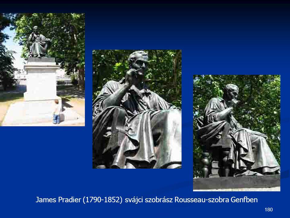 180 James Pradier (1790-1852) svájci szobrász Rousseau-szobra Genfben