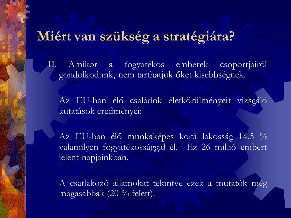 Monitoring  EU jelentés a fogyatékos emberek helyzetéről: - kétévenkénti jelentés - adatgyűjtés, kutatás - Intézkedési terv értékelése 2008-ban