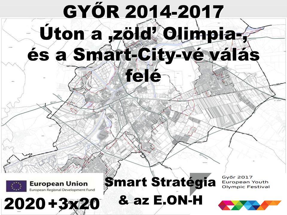 GYŐR 2014-2017 2020+3x20 Smart Stratégia & az E.ON-H Úton a 'zöld' Olimpia-, és a Smart-City-vé válás felé