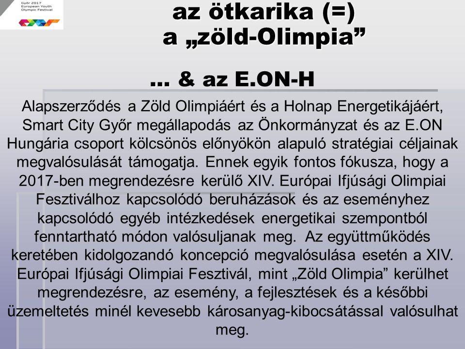 Alapszerződés a Zöld Olimpiáért és a Holnap Energetikájáért, Smart City Győr megállapodás az Önkormányzat és az E.ON Hungária csoport kölcsönös előnyö