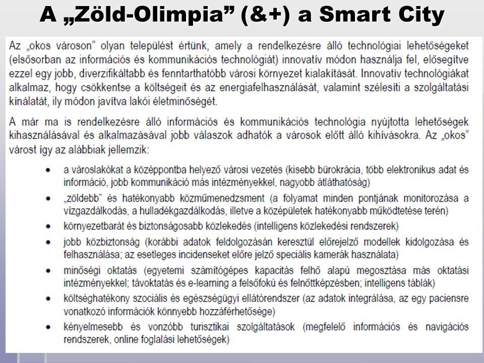 """A """"Zöld-Olimpia"""" (&+) a Smart City"""
