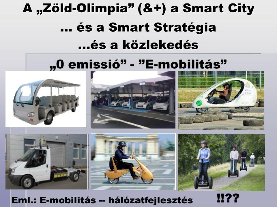 """Eml.: E-mobilitás -- hálózatfejlesztés !!?? A """"Zöld-Olimpia"""" (&+) a Smart City … és a Smart Stratégia …és a közlekedés """"0 emissió"""" - """"E-mobilitás"""""""